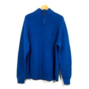 Chaps 1/4 Zip Thick Cotton Pullover Sweater SZ M